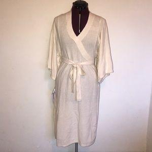 BCBG Kimono faux wrap sweater dress
